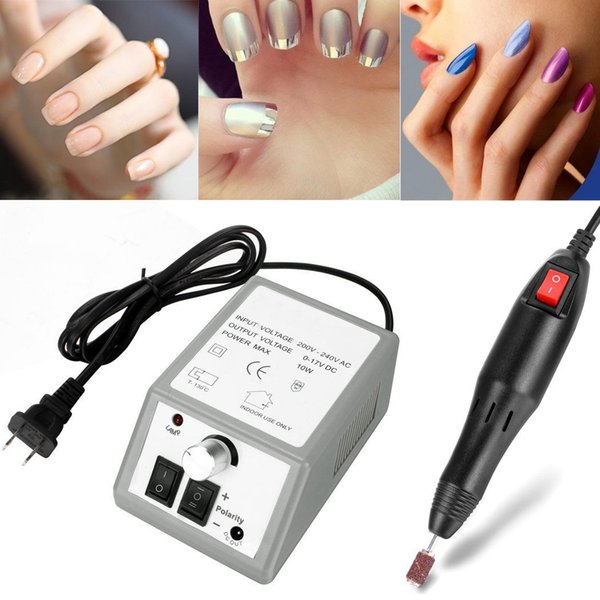 top popular PROFESSIONAL ELECTRIC NAIL FILE DRILL Manicure Tool Pedicure Machine Set kit 2 Colors DHL 2020