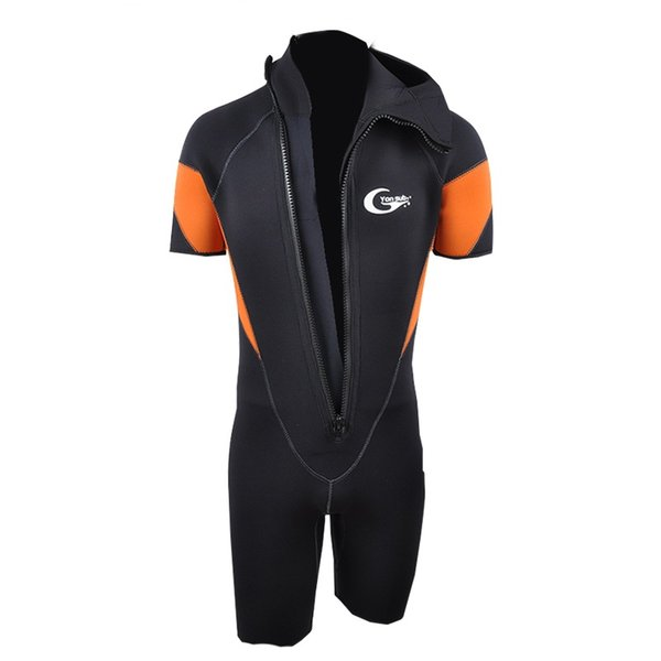 5mm One-piece Diving Suit Keep-Warm Cold-Proof Sun-Block Long Sleeve Swimming Suit
