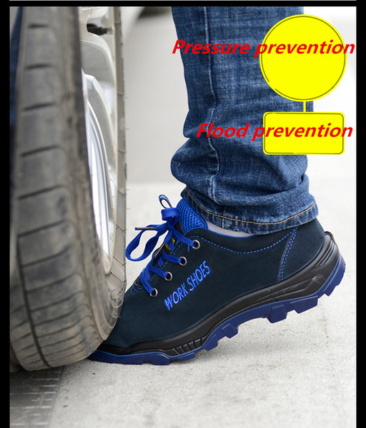Men's Breathable Steel Toe Safety Shoes with Puncture Proof Midsole Slip Resistance Light Weight Work Boot Labor Insurance Shoes