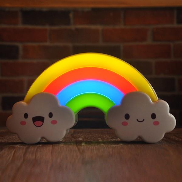 Yeni pil / şarj edilebilir Ses gökkuşağı LED gece lambası sensörü ışık Ses Uzaktan Kumanda duvar lambası iç aydınlatma