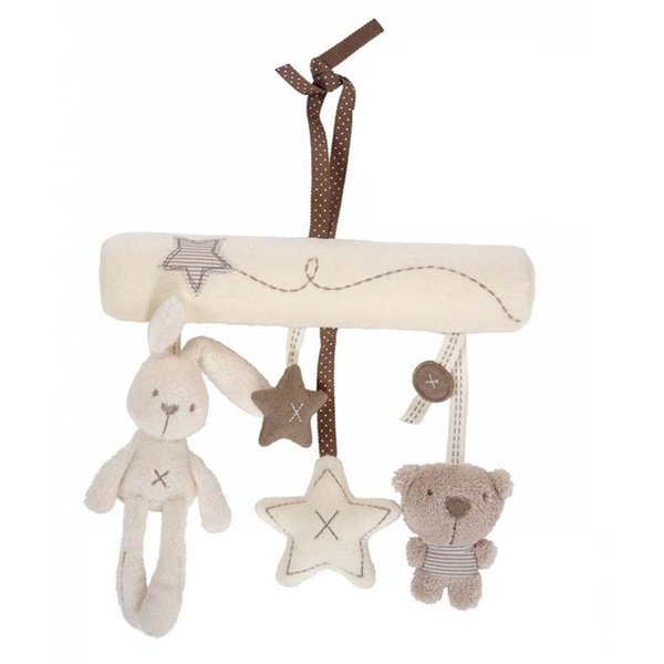 Cute Pendant for Baby Car Rabbit Plush Toys Safe Bed Toys of Rabbit Plush Pendant Hanging Bed Toy