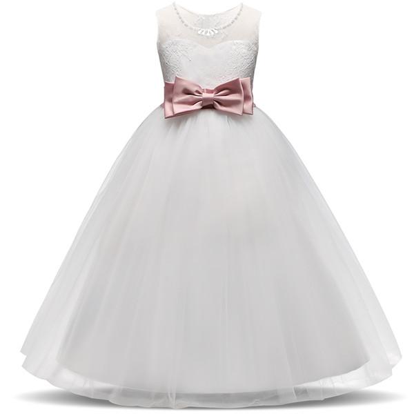 Acheter Nouvelle Fleur Fille Robe Dentelle Boutique De Mariage De Bal De  Bal Robes Filles Première Communion Robes Enfants Infantil Vestidos Pour  Ados