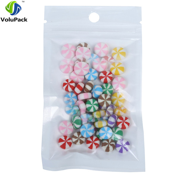 """9x16cm (3.5x6.25"""") translucent BOPP pearl film ziplock bag, plastic flat pouch with front clear zipper grip seal packaging bags"""
