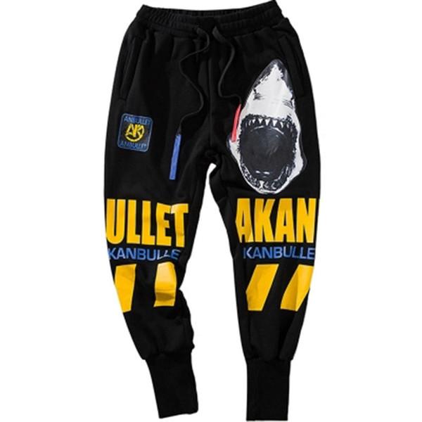 Dans Hip Hop Pantolon Adam Harem Elastik Serin Pantolon Erkekler Gevşek Baskı Pantolon Streetwear Erkek Joggers Mens Baggy Sweatpants ...