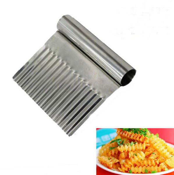 (5pcs)Potato Carrot Vegetable Crinkle Wavy Chopper Cutter Blade French Fry Slicer Easy Quick Kitchen Tool Knife Stainless Steel Blade