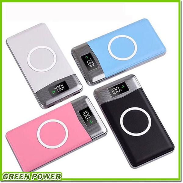 Wirele powerbank dual u b power bank 20000mah wirele charger powerbank bateria external portable with led light for iphone x