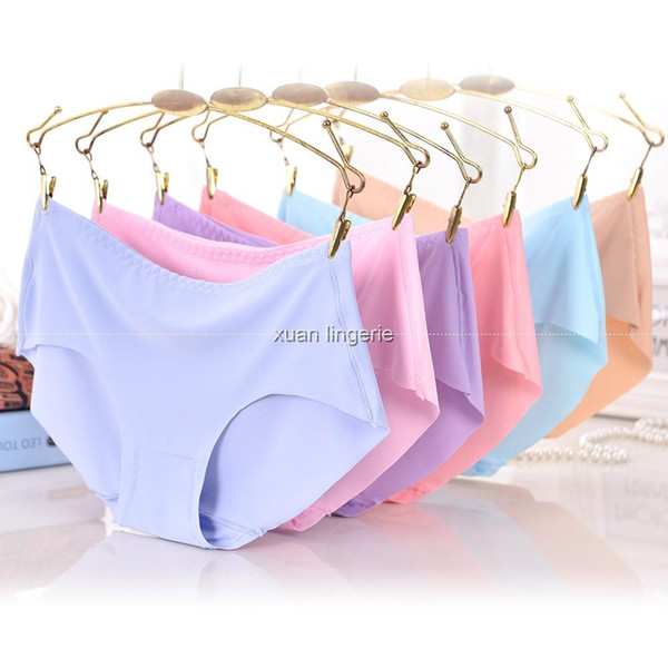 ee38eca72ec2 XXXL Panties Seamless Briefs for Women Underwear Cute Comfortable Bikini  Ladies Invisible Traceless Panty Girls Sexy