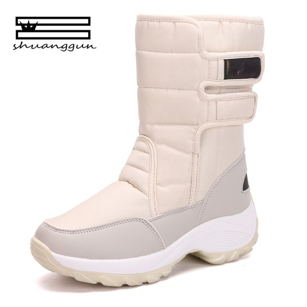 3eee4500d39 Women Boots Non Slip Waterproof Winter Ankle Snow Boots Women Platform  Winter Shoes With Thick Fur Botas Mujer Boots Pharmacy Chukka Boots From ...