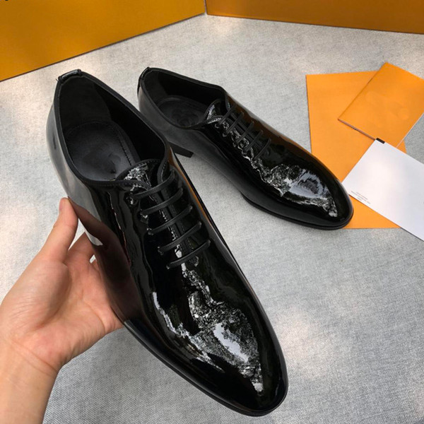 609c0aa63 Moda 2019 designers famosos, sapato Flat Shoes Oxfords de Negócios de Luxo  Sapato Casual Preto