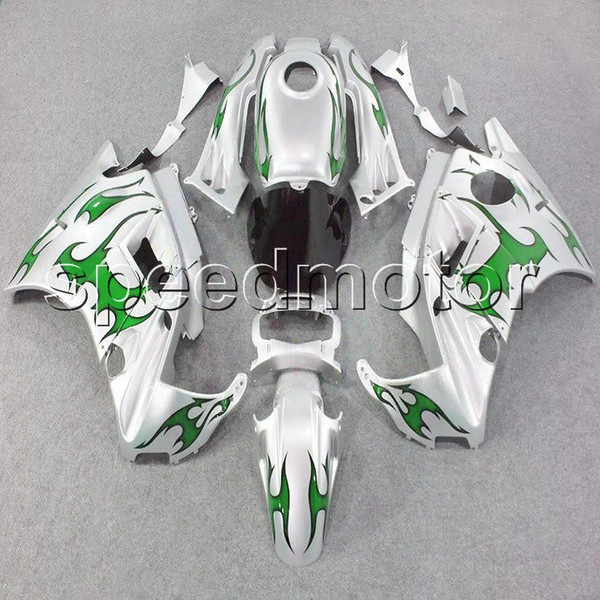 23colors+Gifts green flames motorcycle cowl Fairing for HONDA CBR600 F2 1991 1992 1993 1994 600F2 91 92 93 94 ABS plastic kit