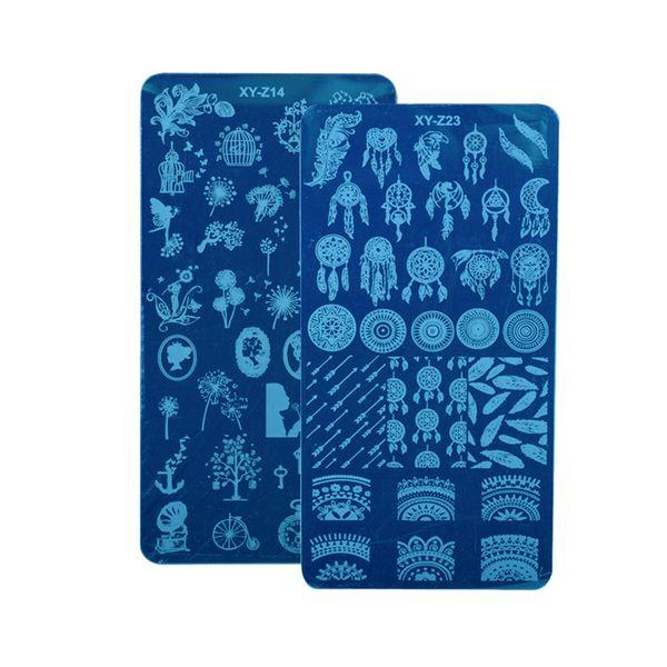 2PCS Fashion Designs Nail Stamping Plates Dream Catcher Dandelion Image Polish Templates Stencils for Manicure Sets CHXYZ14/23