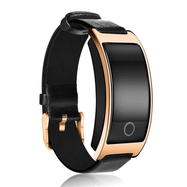 Smartch CK11S Bluetooth Pulsera elegante, ritmo cardíaco de la pulsera de la alarma de la vibración del podómetro del perseguidor de la aptitud