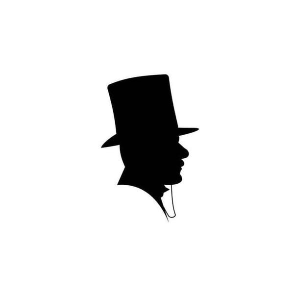 Uomo con cappello a cilindro Silhouette Adesivo per auto Adesivo per auto in vinile Accessori Adesivo per auto Gentleman
