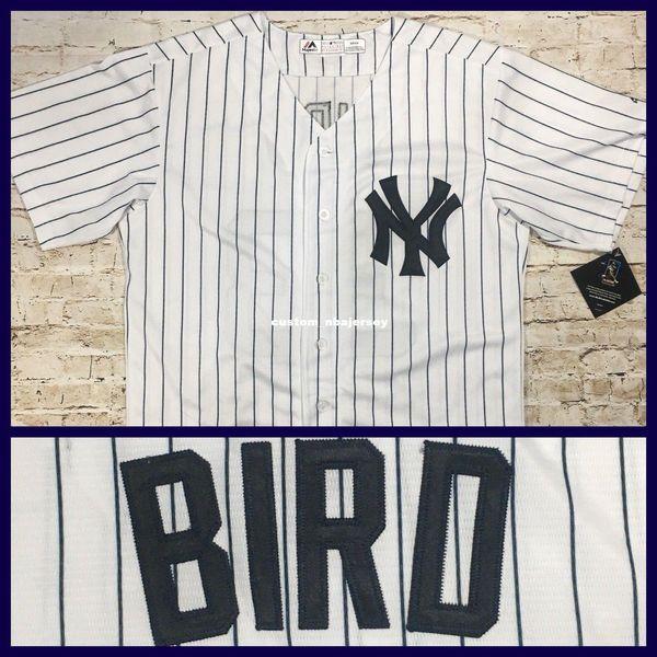 Cheap Custom Greg Bird 33 Cool Base jerseys White Pinstripe Stitched Retro jerseys Customize any name number MEN WOMEN YOUTH XS-5XL