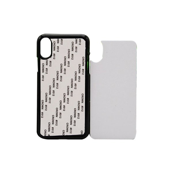 For iPhone XS XR 2D Sublimation Phone Case Blank PC Material Customized Your Design Mobile Phone Back Cover For iPhone XS MAX 8