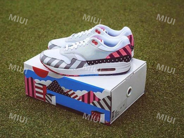 New Piet Parra Maxes 1 Man Woman White Multi Grey Blue Running Shoes Sports Rubber Outsole Trainers Designer Athletic Sneakers AT3057-100