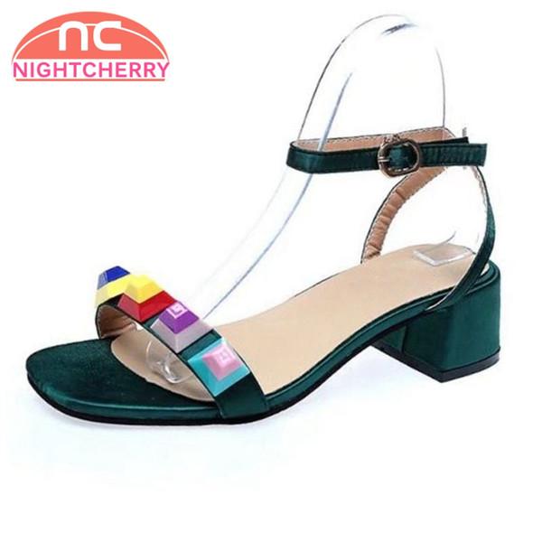 Grueso Caramelo Mujeres Zapatos Talón De Mayor Las Tacón Alto Por Decoración Sandalias Del Compre Al 9ED2YWIH