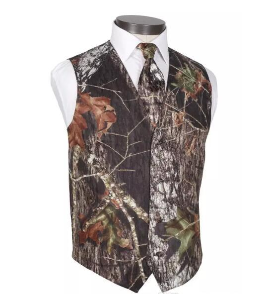 2018 new fashion mens wedding vests outerwear groom vest realtree spring camouflage slim fit mens vests(vest+tie) plus size thumbnail