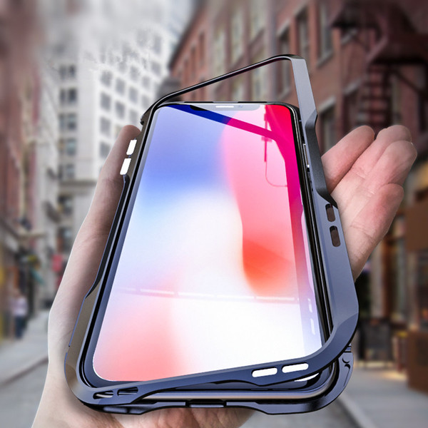 For iPhone XS / XS MAX Case Magnetic Adsorption Metal Bumper Tempered Glass Back Cover Shell For iPhone XR Magnetic Case