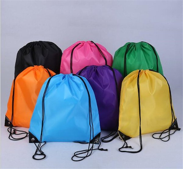 60pcs kids' clothes shoes bag School Drawstring Frozen Sport Gym PE Dance Portable Backpacks Y235
