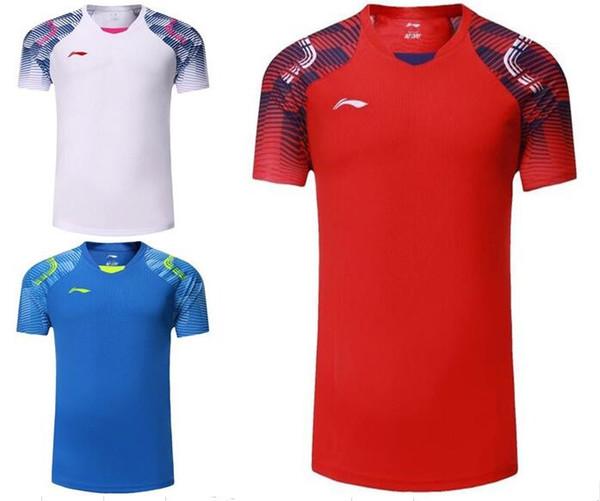 2018 new Li-Ning men/women Badminton sportswear t-shirt,national competition professional table tennis jerseys,tennis train shirt for men