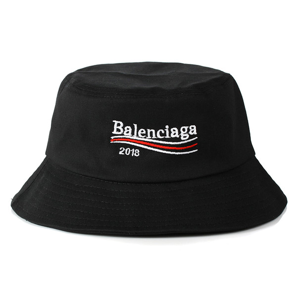 2018 Wholesale-Summer SunBucket Hat Protection Fishing Brand Bob Boonie Bucket Hats Summer caps 2 color