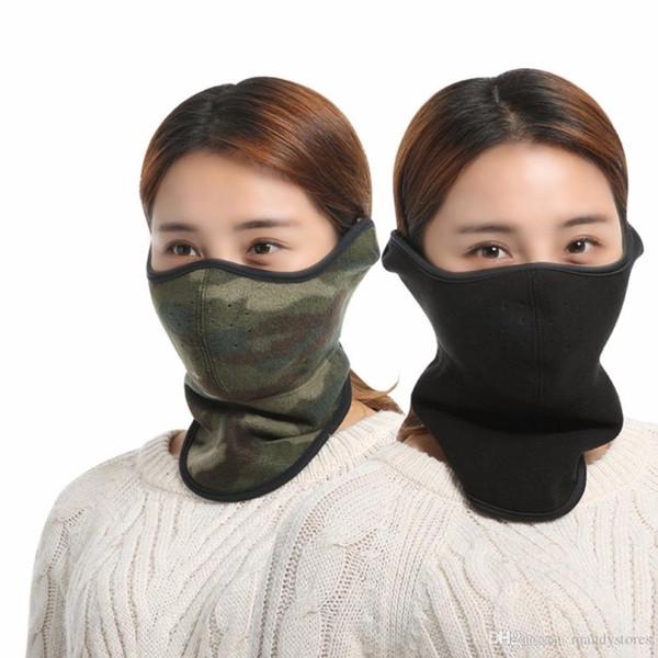 Toptan-Yeni Unisex Kalınlaşmış Sıcak Nefes Sürme Maskesi Kış Boyun Isıtıcı Maske Açık Spor Bisiklet Kamp Yürüyüş Toz Geçirmez Eşarp