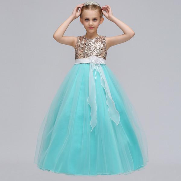 Vestidos lindos para las niñas pequeñas de encaje vestido de bola Vestido de niña de flores Vestido de primera comunión para Gilrs Vestido de Daminha