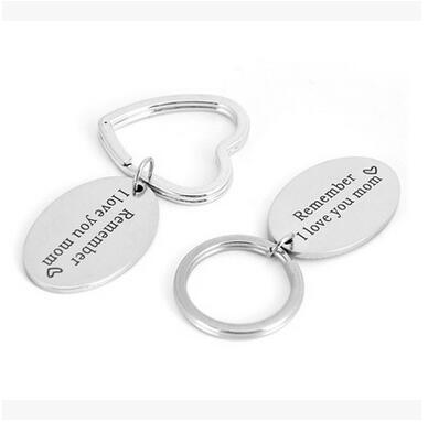 New Hot Remember I love you mom Keychain Gifts for Mothers Stainless Steel Jewelry Key Ring