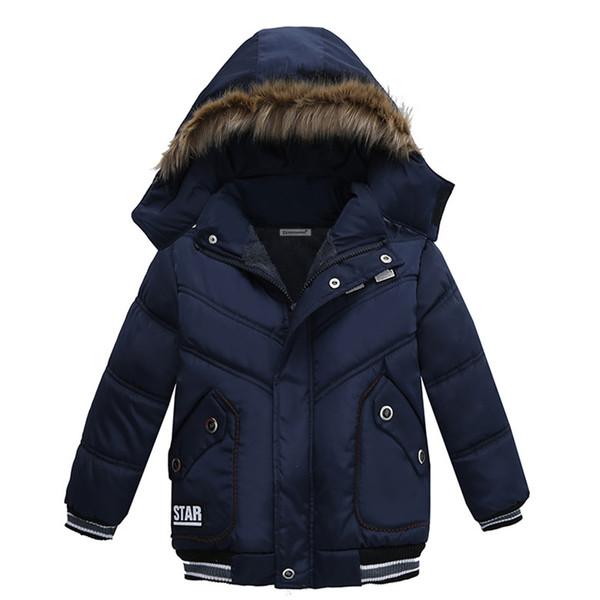 2018 Winter Baby Warm Down Coat Baby Boys Girls Coat Jacket Hooded Long Sleeve Children Solid Kids Outerwear Fashion Snowsuit