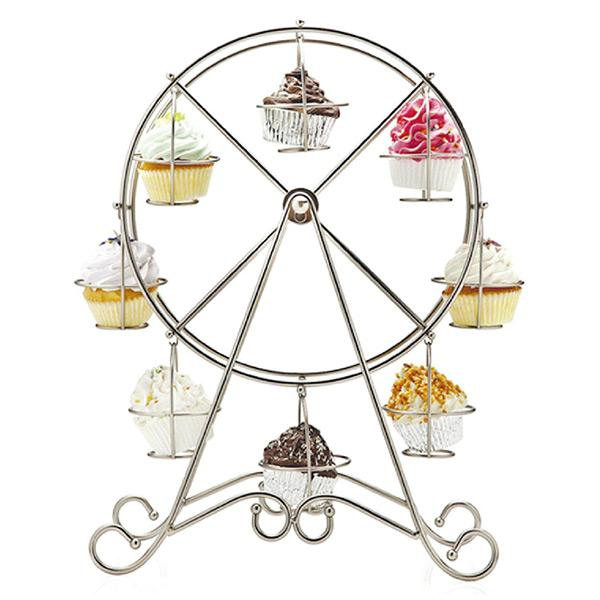 Ferris Wheel Silver Stainless Steel Cupcake Stand Cake Holder Wedding Decorating  Display Tool Party Supplies Casamento