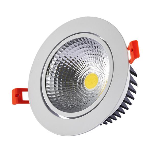 Verdadera potencia de salida 3W 5W 7W 10W 12W regulable MAZORCA LED empotrada Downlights Spot luz AC85V-265V Empotrable lámpara de techo