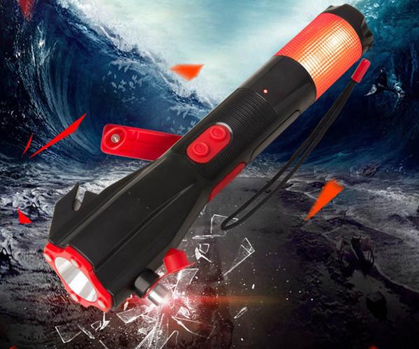 XLN-703S car safety hammer fire safety hammer glare flashlight multi-function emergency hand crank power generation epacket free post