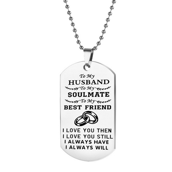 to my husband necklace