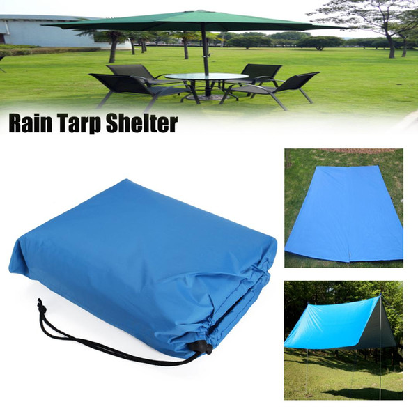 Waterproof Camping Tent Tarps Large Hammock Rain Fly Portable Awning Canopy Tent Outdoor Picnic Beach Shade with Pegs Ropes