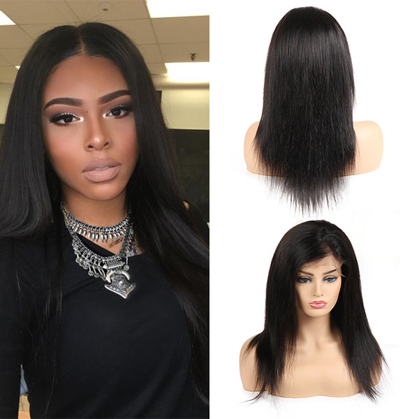 Unprocessed Brazilian Straight Lace Front Human Hair Wigs 360 Full Lace Wigs For Black Woman Remy Peruvian Indian Virgin Hair Free Shipping