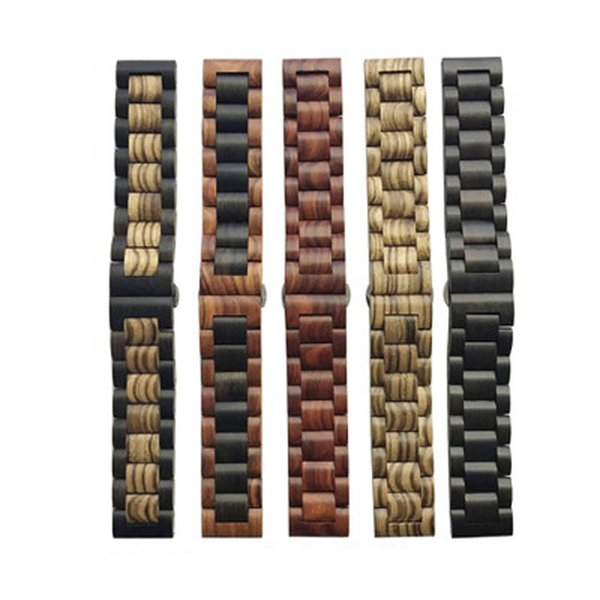 Cinturino cinturino in materiale legno massello 22mm 20mm per Samsung Gear sport S2 S3 s4 Fascia Frontier amazfit bip Pebble fitbit versa moto