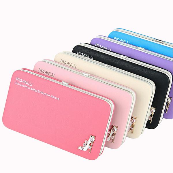 Neue Frische Candy Farbe Frauen Lagerung Brieftasche Sexy Hochhackigen Dekoration Geld Geldbörse Damen Handy Handy Clutch Kartenhalter