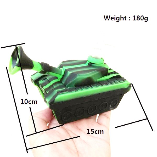 Mini Tanks Style silicone Smoking Pipes With Glass Bowl Unbreakable Water Bong for Wax Oil Dry Herb tobacco Hand Pipe