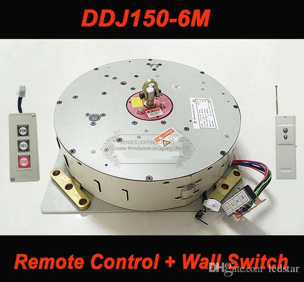 Wall/Remote Control Hoist Crystal Chandelier Hoist Lighting Lifter Electric Winch Light Lifting System Lamp Motor DDJ150-6m cable
