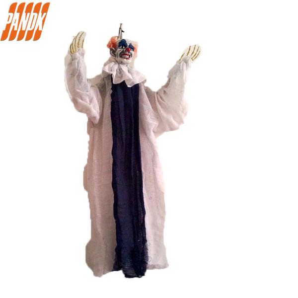 Ornement suspendu en latex diable clown suspendu zombie halloween décorations accessoires hantés maison hantée