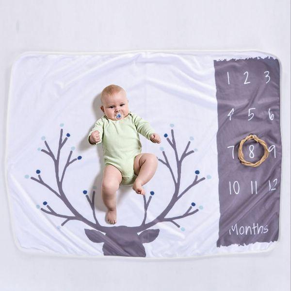 Couverture de bébé nouveau-né Photographie Fond Couvertures Bébés Accessoires de Photo Enfants Literie Tapis Jalon Mensuel Anniversaire 4 Modèles DHW1475