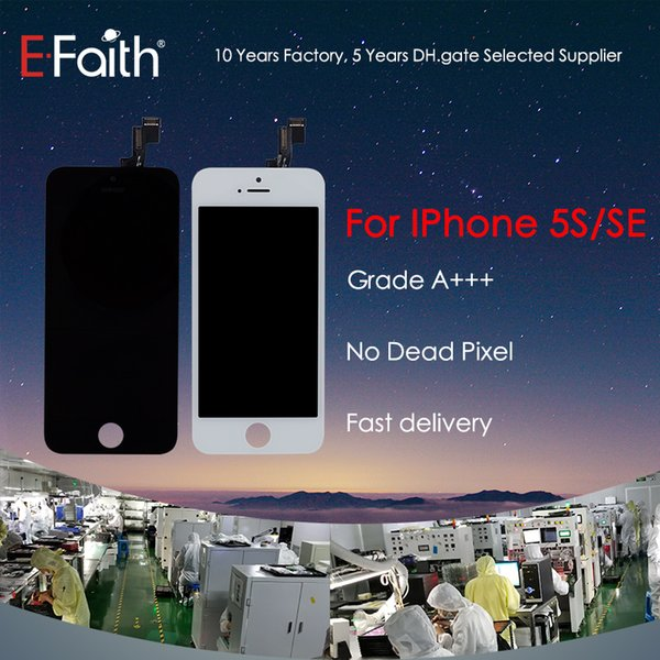 LCD Display Touch Screen Digitizer Full Assembly For iPhone 5S Grade A+++ Replacement Repair Parts & Free Shipping