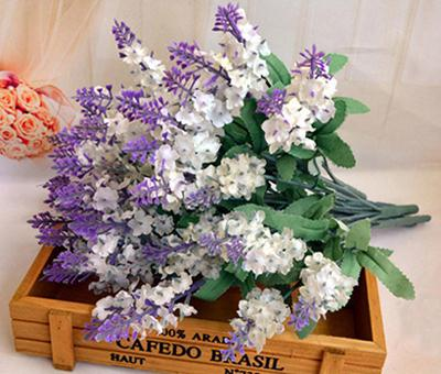 DHgate.com & 2017 /Artificial Silk Lavender Flowers Bouquet For Wedding Party Home Decorative Flowers No Vase From Yiruishen $21.42 | Dhgate.Com