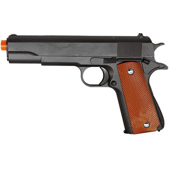 GALAXY G13 METAL GUN MILITARY M1911 SPRING AIRSOFT PISTOL w/ 6mm BB 250 FPS