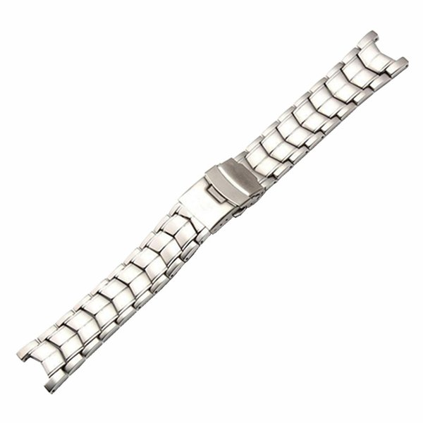 22*13mm Watch Bands For EF-524 Stainless Steel Man Watch Strap Solid Curved End Brand Watchband Waterproof