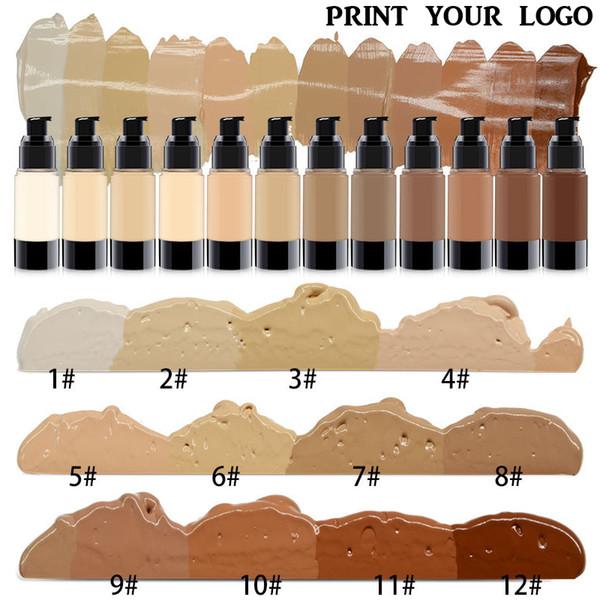 30ml 25 popular color Foundation Primer no logo vacuum bottle Concealer Foundation Moisturizing effect accept customized fresh stock makeup