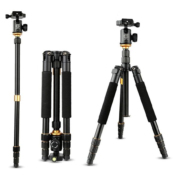 Beike QZSD Q-999s Q999S Professional Camera Tripod with Q-06 Ball head 1460mm 6KG Detachable Monopod for DSLR Cameras
