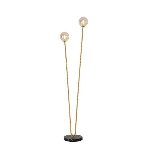 Modern 2 Heads glass ball floor lamp magic bean bubble glass decor floor light V shaped Desk Lamps For Parlor Study bedroom G769