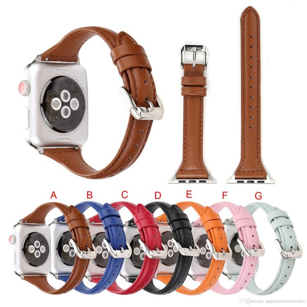 1PCS for Apple Watch strap fashion small waist leather iwatch strap 38MM 42MM new